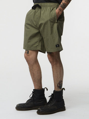 Chopped Chino Short - Army Green