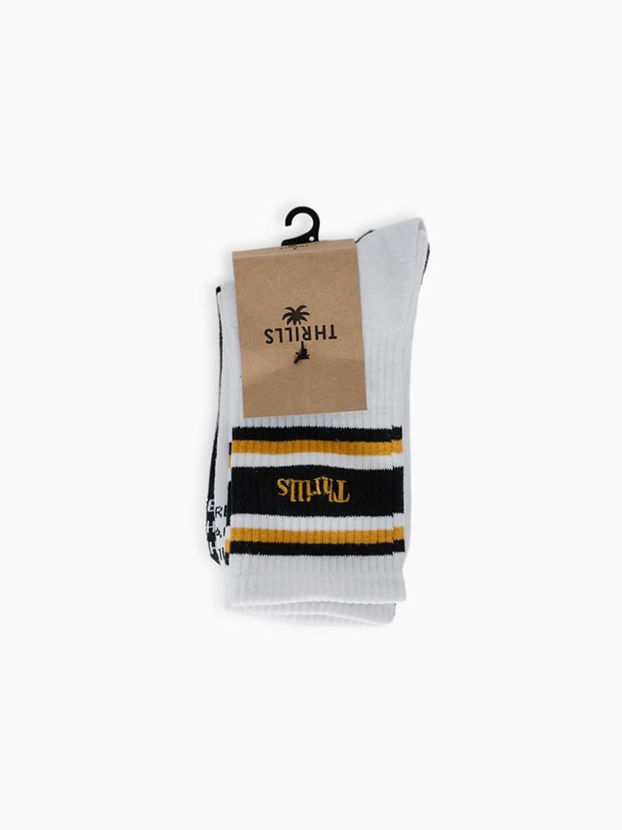Strength Sock 2 Pack - Black / Sunlight Yellow