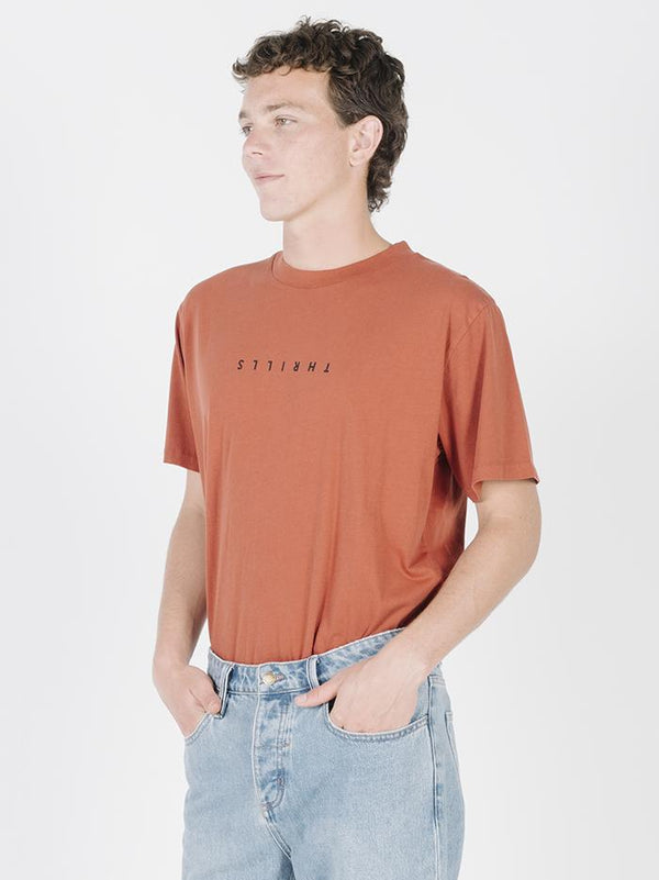 Minimal Thrills Merch Fit Tee - Rocker Red