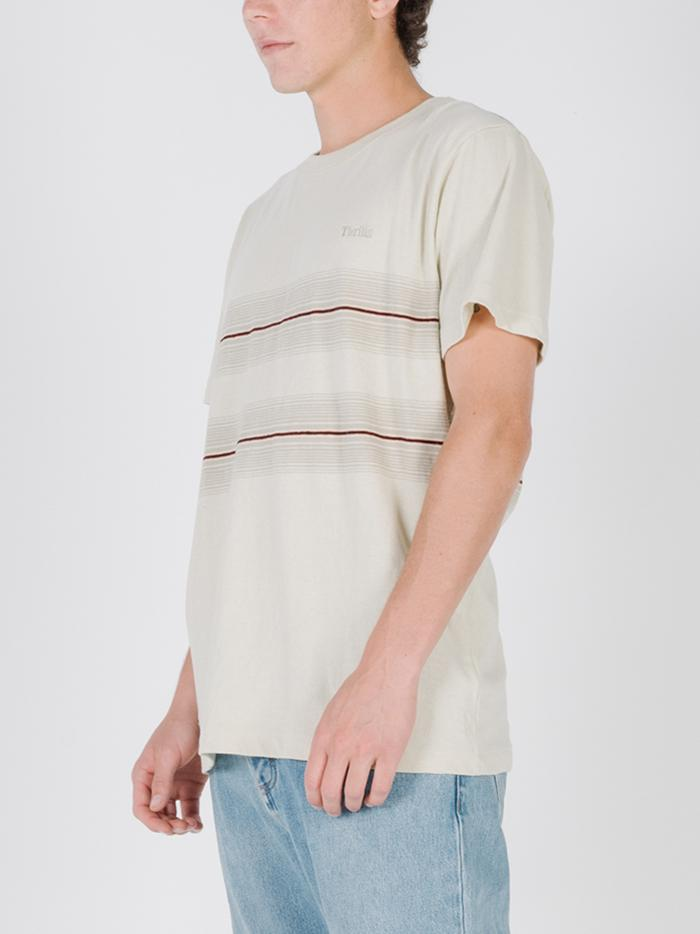 Horizon Stripe Merch Fit Tee - Tiki White
