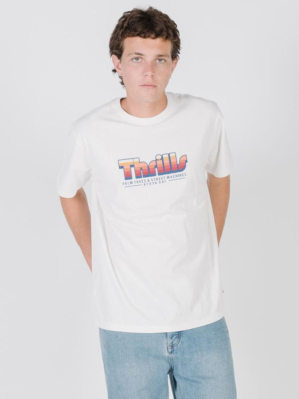Thrills Mxing Merch Fit Tee - Dirty White
