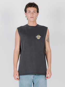 Cycles & Clothing Merch Fit Muscle Tee - Vintage Black