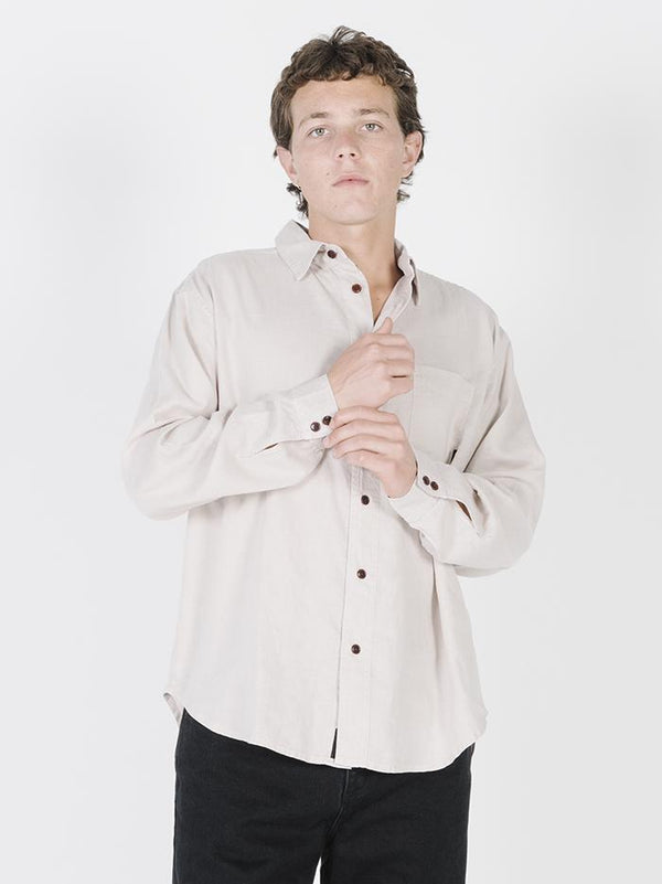 Minimal Thrills Oversized Long Sleeve Shirt - Peyote