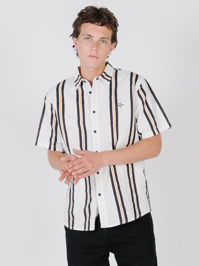 Thrills Design Vertical Stripe Shirt - Egret