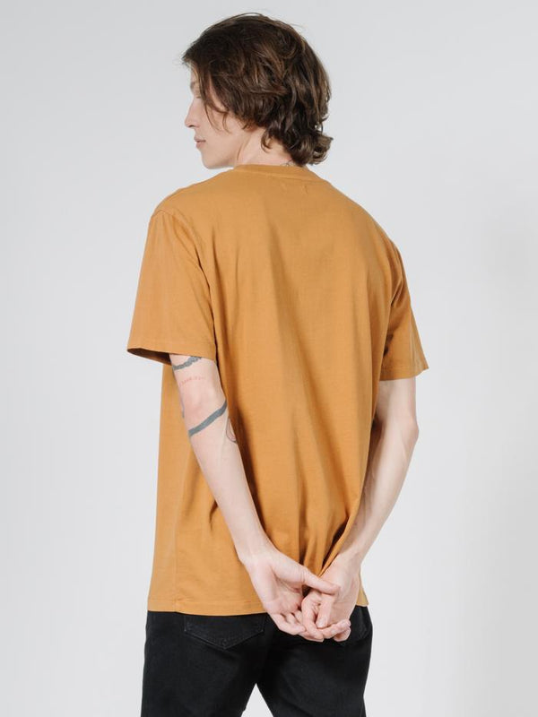 Minimal Thrills Merch Fit Tee - Golden Brown
