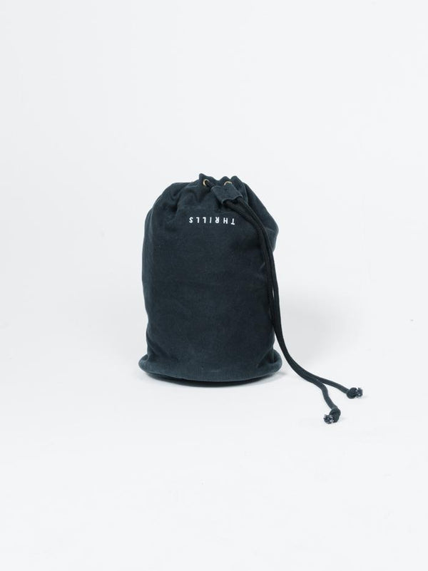 Minimal Thrills Drawstring Bag - Black