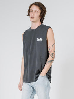 Wellness Merch Fit Muscle Tee - Vintage Black