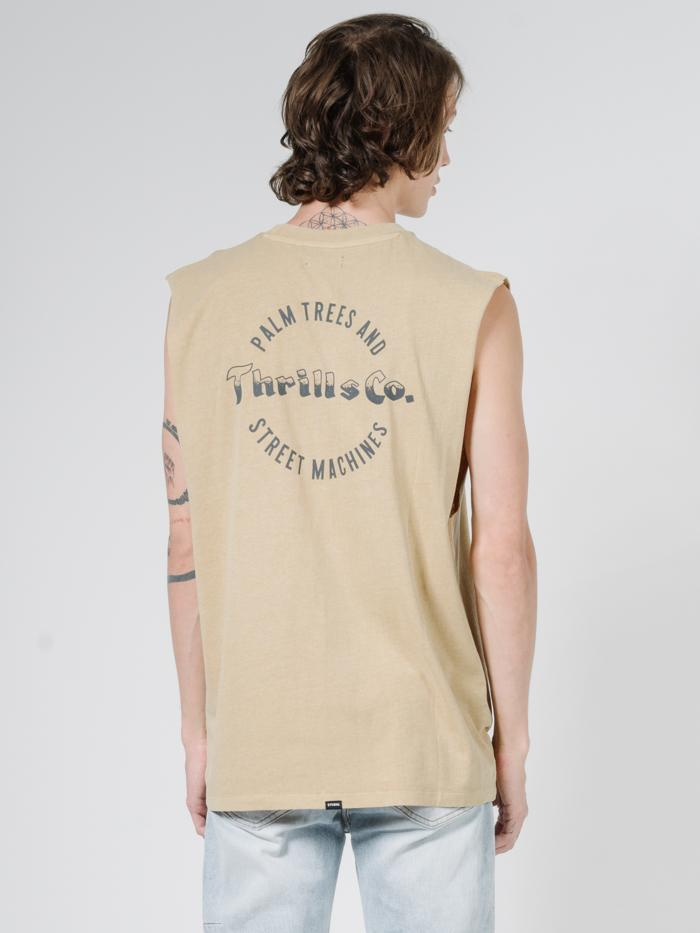 Wellness Merch Fit Muscle Tee - Faded Gold