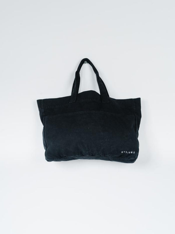 Minimal Thrills Oversized Tote - Black