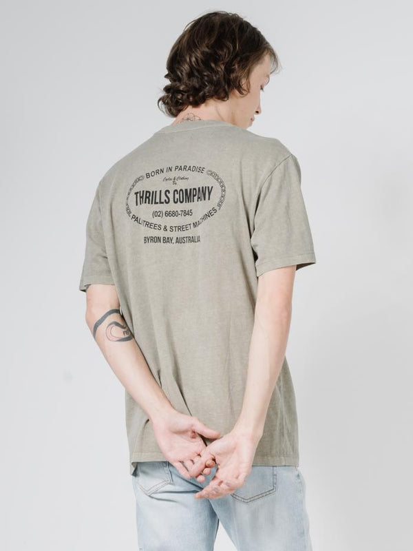 Thrills Garage Merch Fit Tee - Army Fade