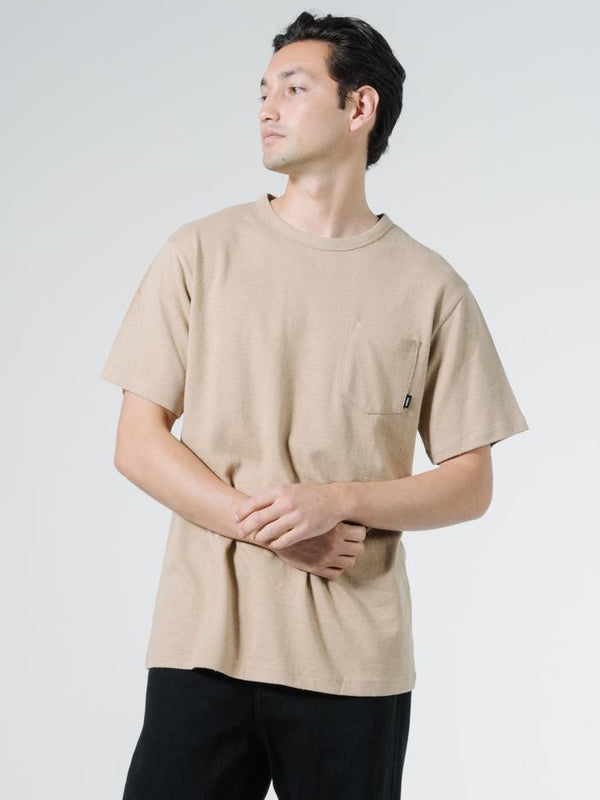 Endless Merch Fit Pocket Tee - Washed Tan