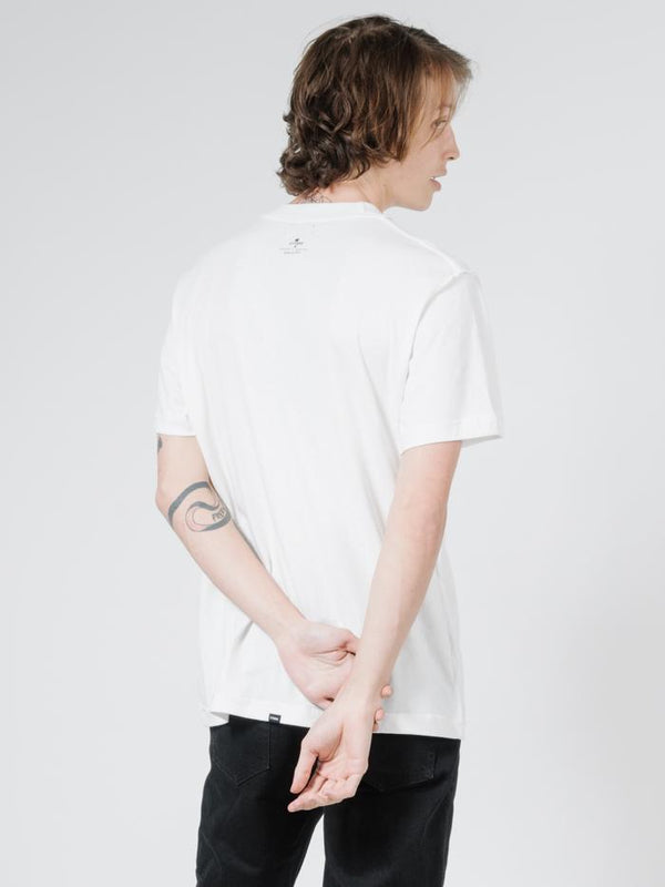 Tribute Reverse Merch Fit Tee - Dirty White