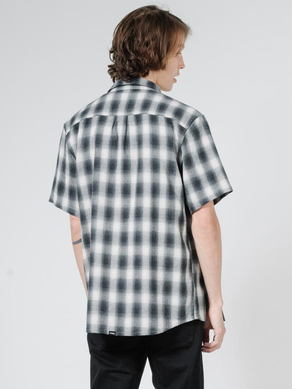 Angel Check Short Sleeve Shirt - Steel Grey