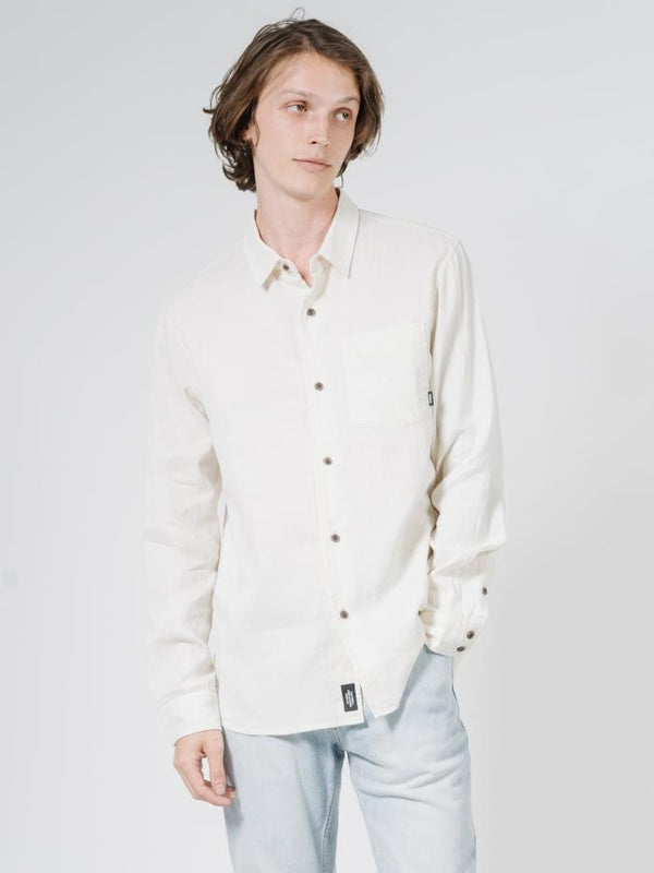 Dril Long Sleeve Shirt - Unbleached