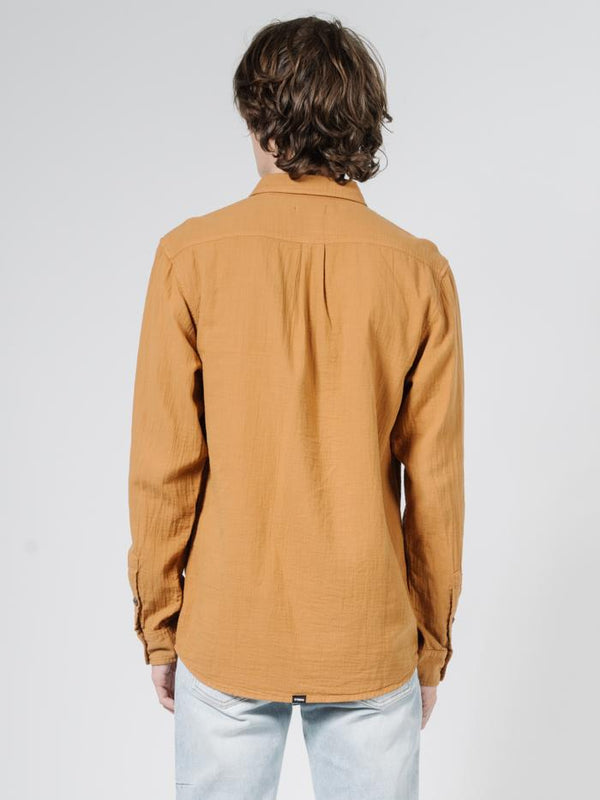 Dril Long Sleeve Shirt - Golden Brown