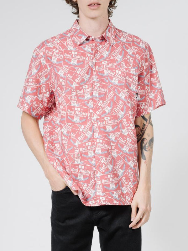 Bad Habits Short Sleeve Shirt - Red