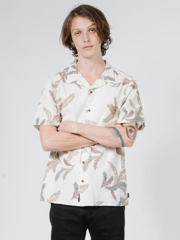 Feathered Short Sleeve Shirt - Unbleached