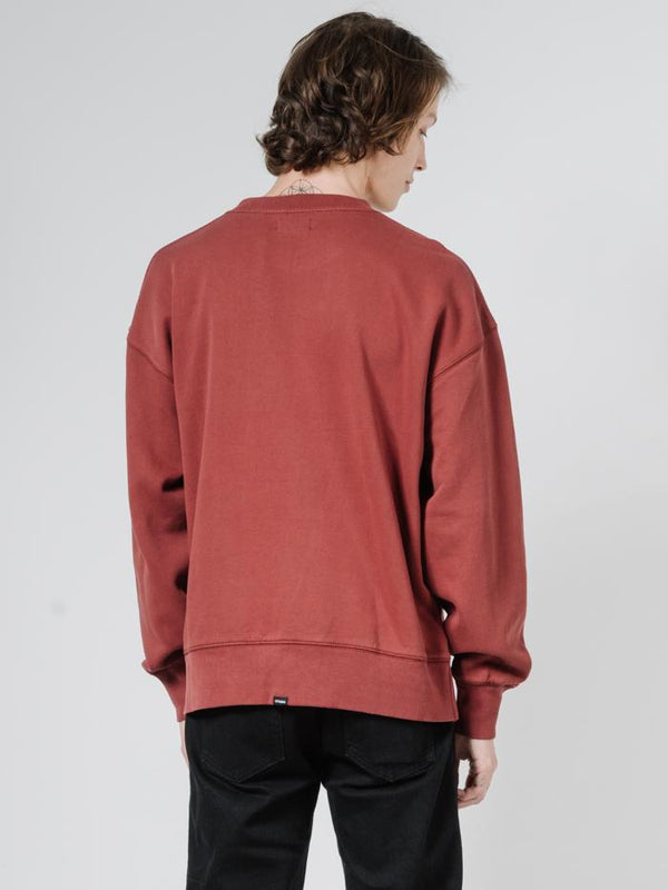 Tonal Palmed Thrills Crew - Burnt Red
