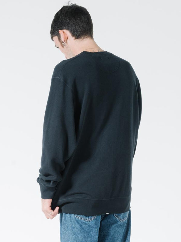 Endless Slouch Fit Crew - Black