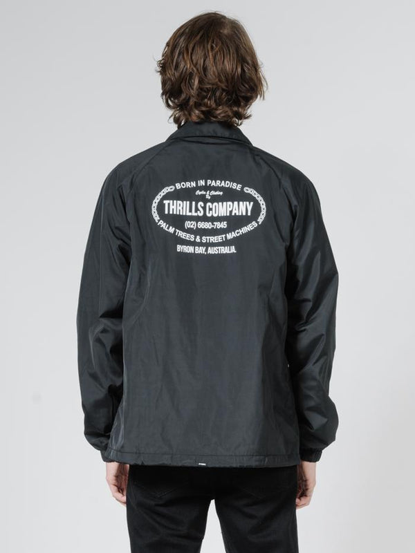 Thrills Garage Coaches Jacket - Black