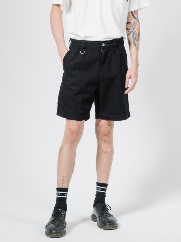 Workshop Short - Washed Black