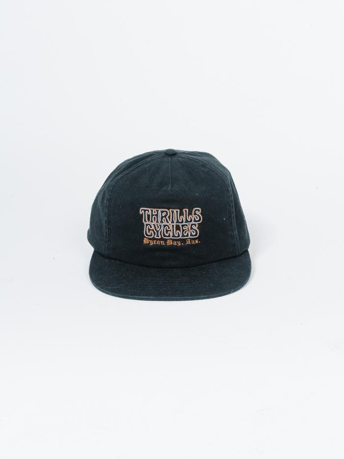 Thrills Cycles Cap - Heritage Black
