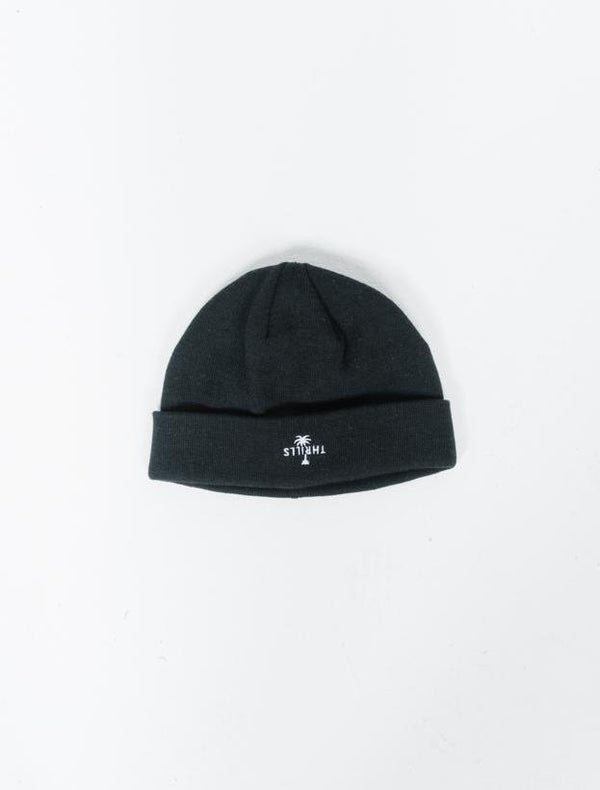 Palm Embro Beanie - Black