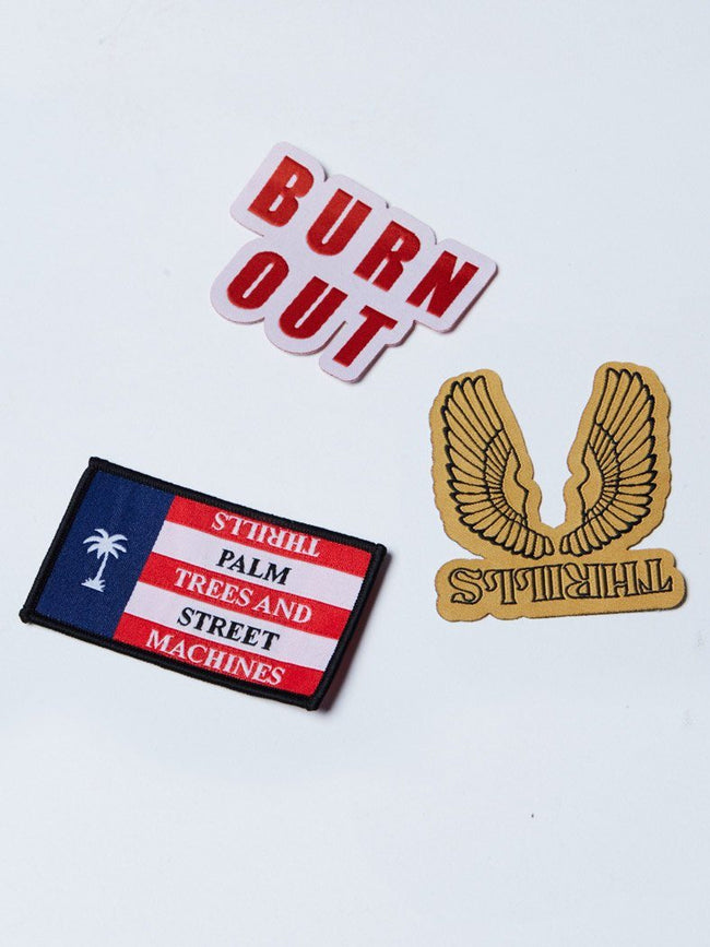 Burn Out Patch Pack - ASSORTED - Thrills Co