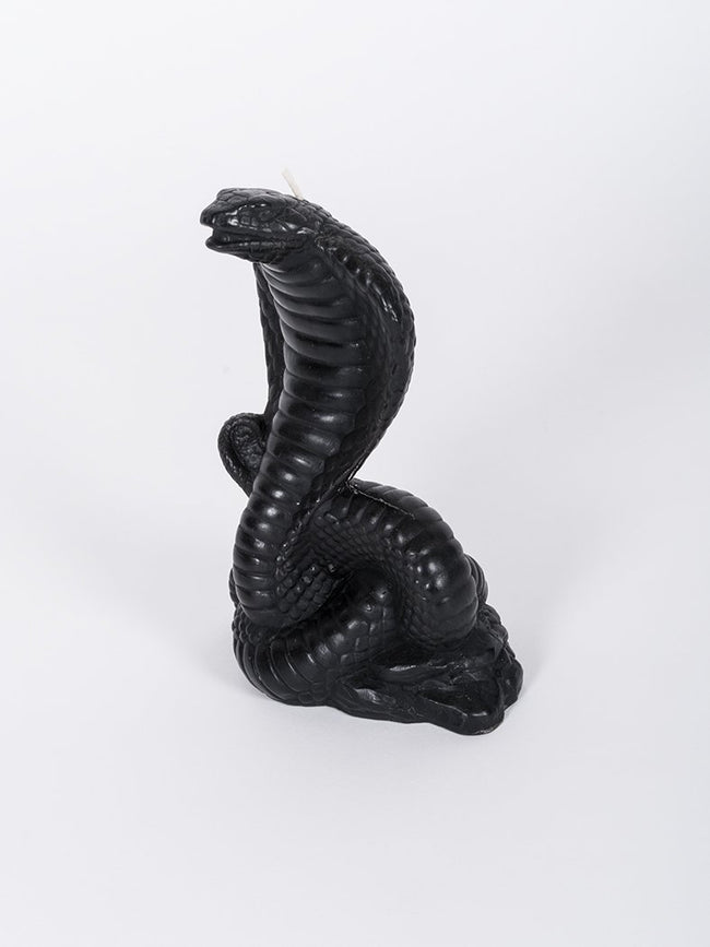 Cobra Snake Candle - Black