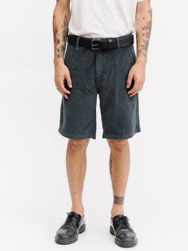 Chopped Corduroy Chino Short - Vintage Black