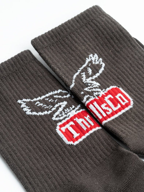 Landed Eagle Sock - Merch Black