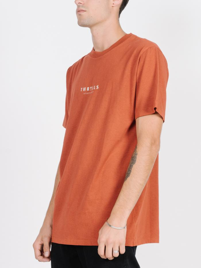 Palmed Thrills Merch Fit Tee - Rocker Red