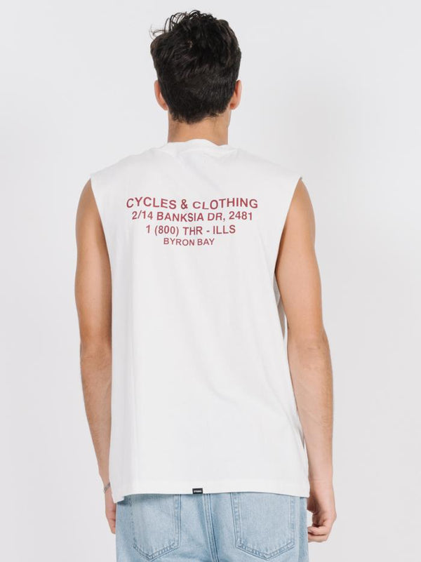 Cycles & Clothing Merch Fit Muscle  - Dirty White