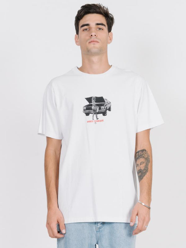 Dirty Torque Merch Fit Tee - White