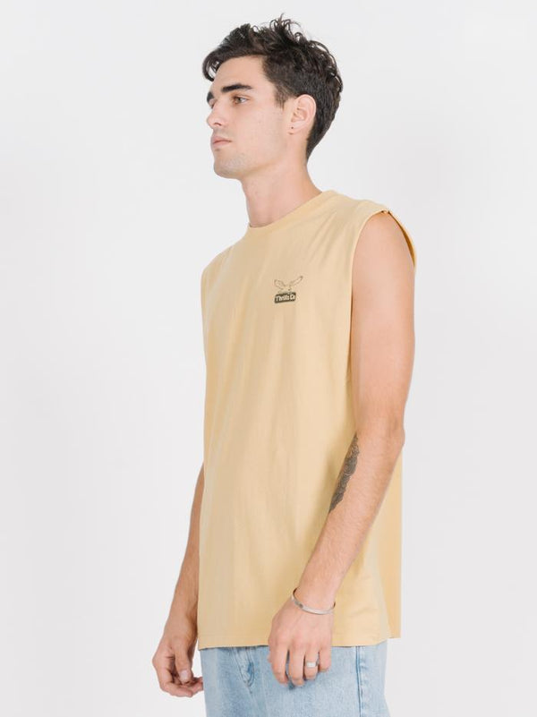 Landed Merch Fit Muscle - Heritage Yellow