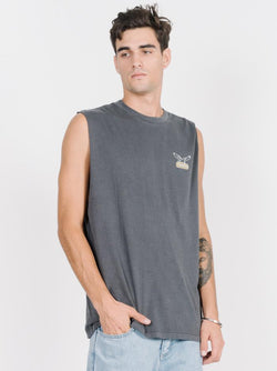 Landed Merch Fit Muscle - Vintage Black