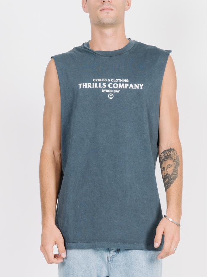 Never Broken Merch Fit Muscle - Washed Navy