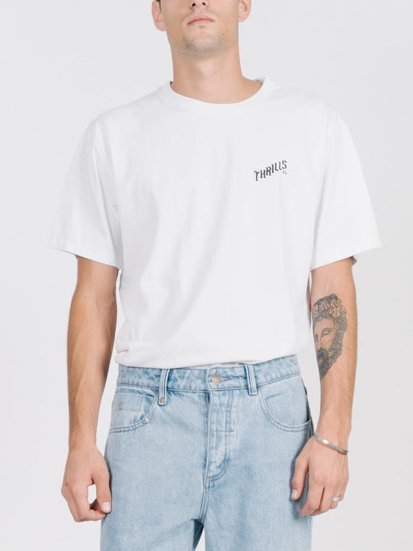 Rose Lens Merch Fit Tee - White