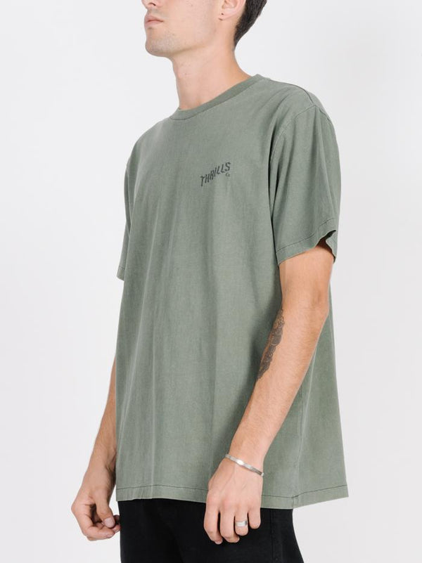 Rose Lens Merch Fit Tee - Army Green