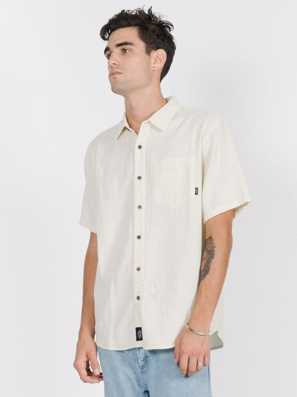 Dril Short Sleeve Shirt - Tiki White