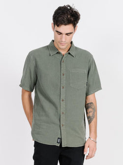 Dril Short Sleeve Shirt - Army Green