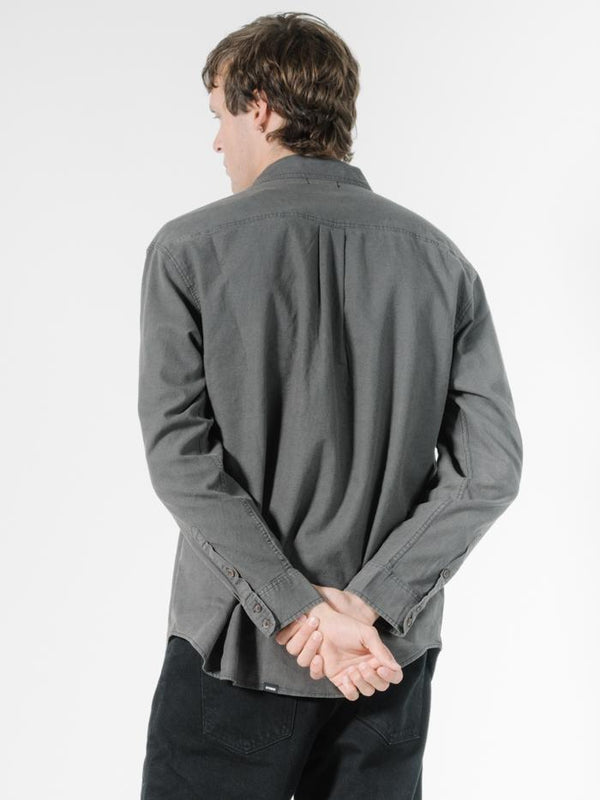 Minimal Thrills Oversize Long Sleeve Shirt - Merch Black