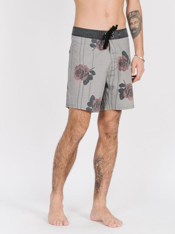Rose Lens Boardshort  - Army Green