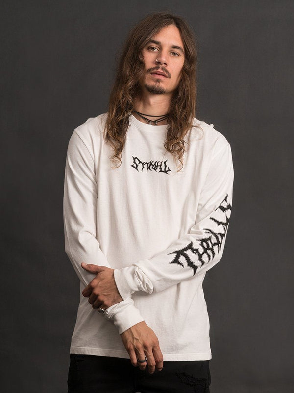Funeral French Palm Longsleeve Tee - Natural
