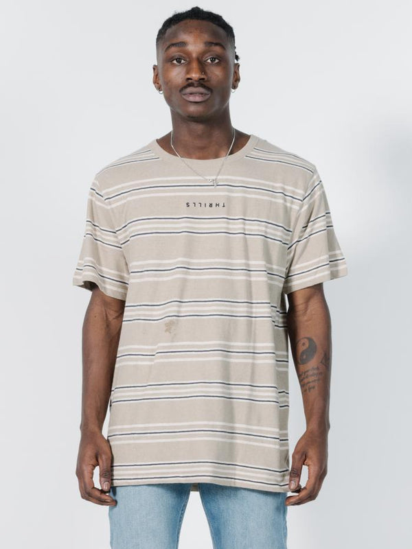 Memory Stripe Merch Fit Tee - Tan