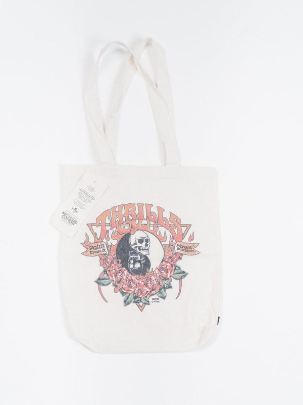 Fire Rose Tote - Thrift White