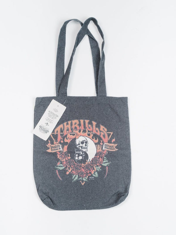Fire Rose Tote - Merch Black