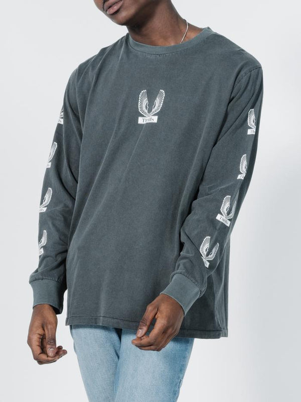Wings Badge Merch Long Sleeve Tee - Merch Black