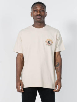 Fire Rose Merch Fit Tee - Thrift White