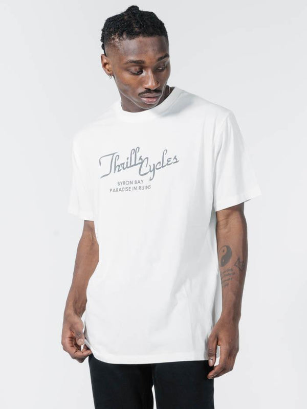 Paradise In Ruins Merch Fit Tee - Dirty White